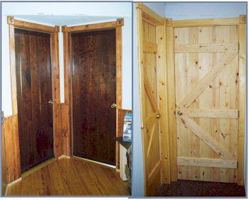 Walnut door trim rear left black leather u0026 walnut for Interior cabin doors